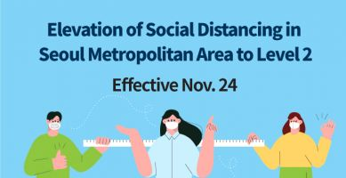 Background image of Elevation of Social Distancing to Level 2 for the Seoul Metropolitan Area